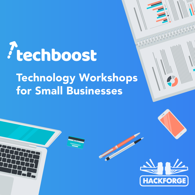 techboost / Technology Workshops for Small Businesses - poster